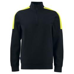 Sweatshirt 2128 Zwart/Geel